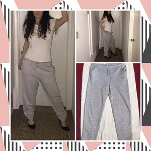 Comfy oversized gray comfy warm sweatpants Size S